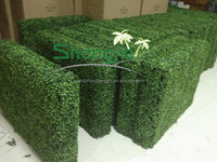 SJ229005 artificial plastic green boxwood hedge fence directly