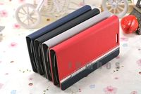 Stand Leather Wallet Pouch Bag Flip Case Cover for Alcatel One Touch Pop C3 4033D