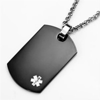 Yiwu Aceon stainless steel square shape customized medical metal accessory chain hang tag