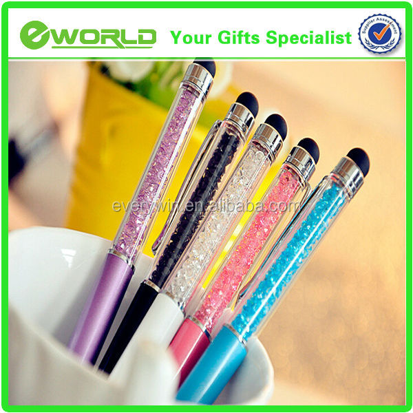 Logo Customzied High Quantity Wedding Gifts Stylus Crystal Diamond Ball-Point Pen