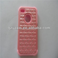 For Apple Iphone 4 4G 4S Luxury Crystal Bling Diamond Mobile Phone Case Cover Skin