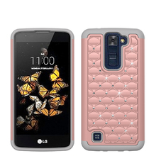Beautiful Rose Gold PC SILICON Case For LG K371 / K350 / K8 Phone Accessories