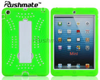 PC Silicone Combo Kickstand Cases For Ipad Mini Shinny Tablet Cover