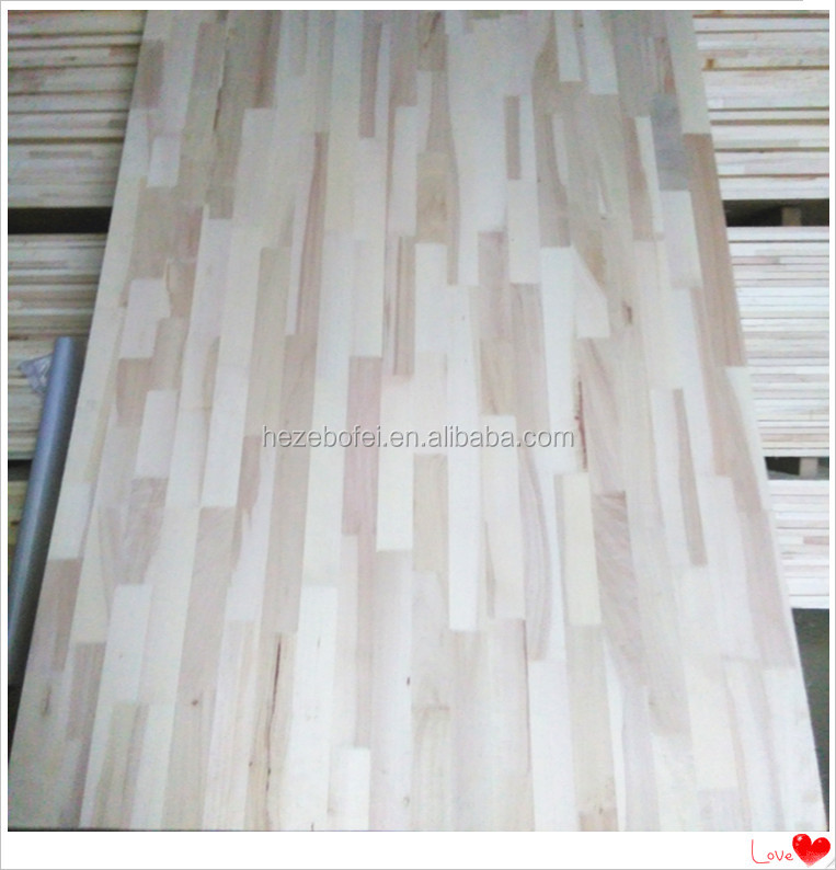 China poplar wood finger joint board price/ lumber uv lacqure poplar wood