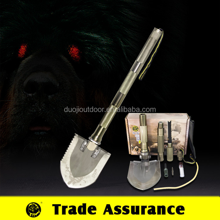 imported carbon steel shovel, tactical survival kit ,outdoor camping exploring gear
