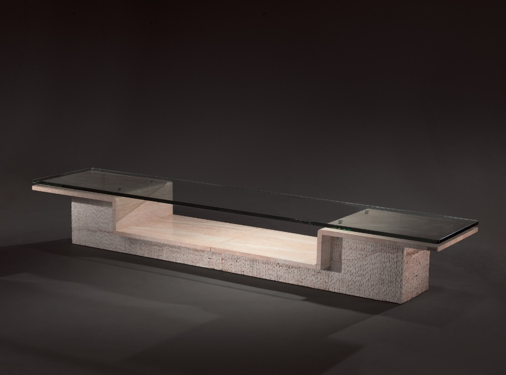 New Fashion Travertine Stone TV Table / Modern Travertine Stone TV Stand /Natural Stone TV Cabinet