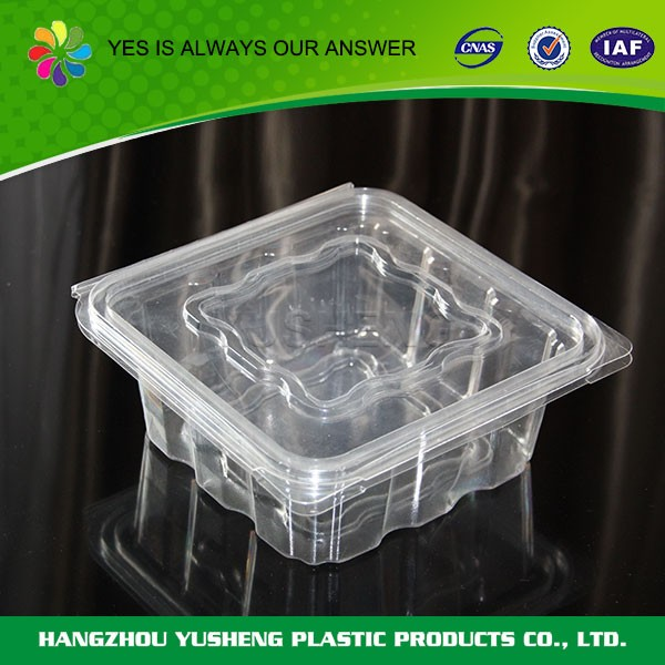 Disposable PET food packaging container for fresh fruit /vegtable