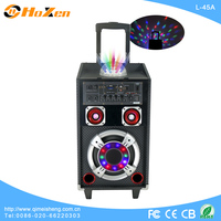 2013 hot sale active audio rechargeable portable trolley speaker with bluetooth L-45A