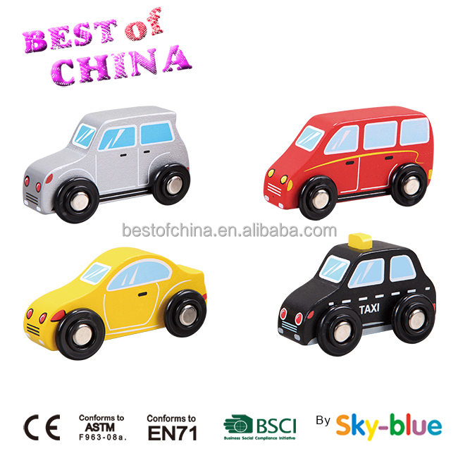 Popular wood car toy set for promotion,Wooden mini toy car for kids,best of china since 2004