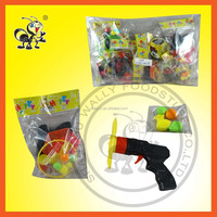 Torque Spinning Top Gun Toy Candy/ Candy Toys