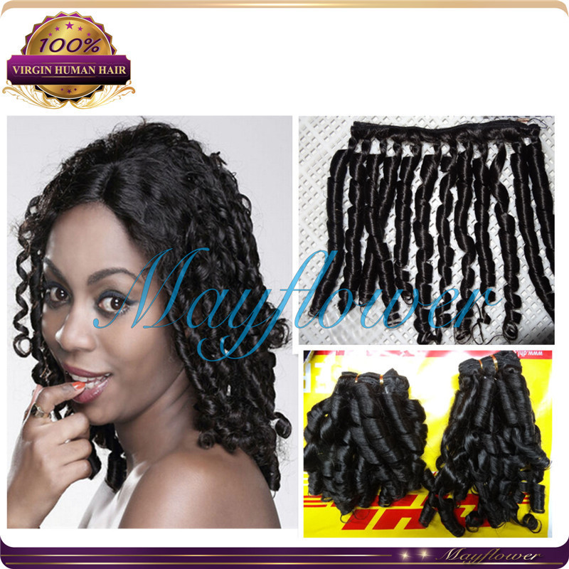 brazilian hair bundles spiral curl remy human hair weave best 7A grade tangle free