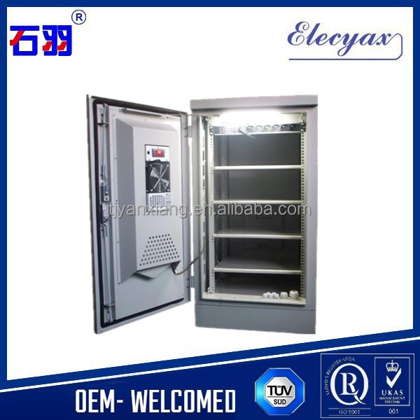 15U outdoor cabinet SK-216/sealed equipment enclosure steel/electrical waterproof cabinet with cooling