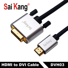 SaiKang Aluminum Alloy DVI Cable Male to Male 24+1 19P 5m 10m 20m HDTV PS3/4 24+26AWG Cable