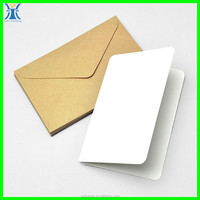 Yiwu 2015 New Arrived plain craft unique cheap custom made wholesale blank greeting cards with envelopes