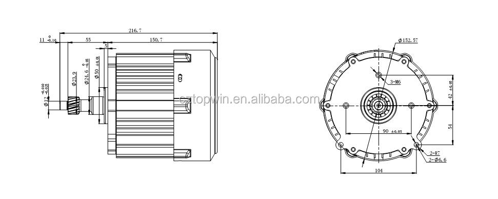 changyun cy  electric vehicle part bldc motor