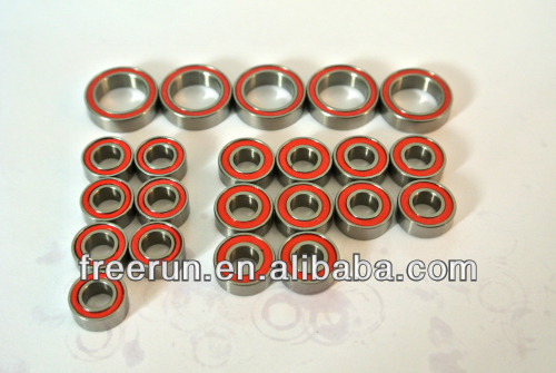 High Performance SHEPHERD MICRO RACING VELOX V8 W/ACCENTRIC CARRIER ceramic bearing kits with different rubber seal color