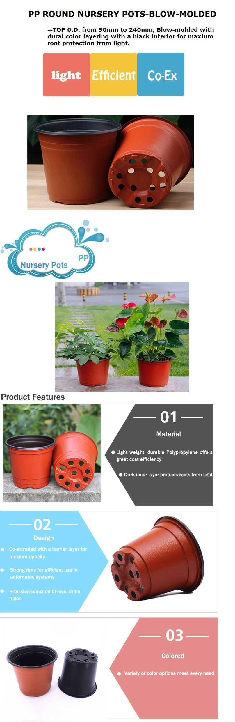 Garden Special-purpose 4 inch Small Cute Plastic Flower Pots Manufacturer