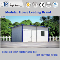 China finished single slope roof sandwich panel prefab house with cheap price