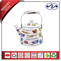 2015 Hot New Products Ceramic Handle Enamel Teapot