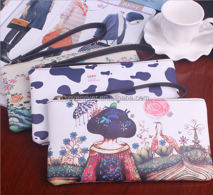 fashion trend Printed wallet purse for ladies