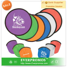 promotional custom design nylon folding fan with pouch