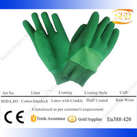 Safety Cuff Latex Coated Glove/Professional Rubber Glove