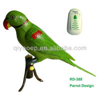 Recordable Parrot Speaking Door Chime Wireless Doorbell Battery Operated