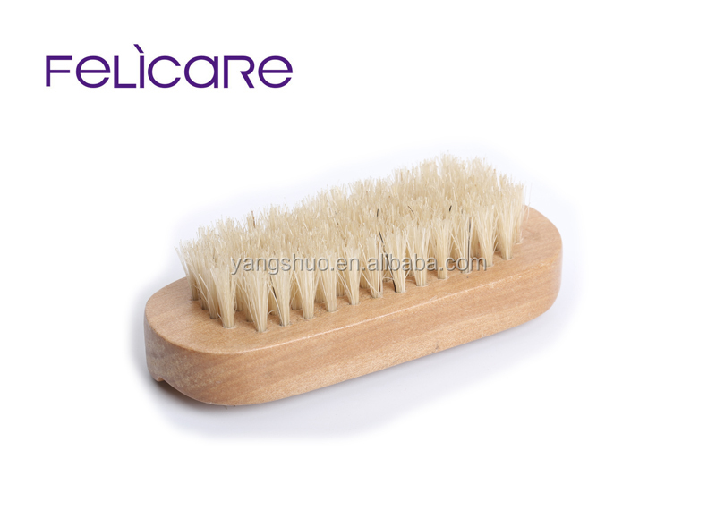 Felicare hot sale nail brush wooden wood bamboo
