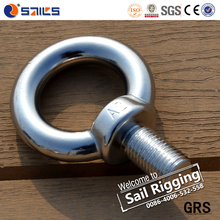 Polished Forged M5 Stainless Steel Din580 Female Eye Bolt