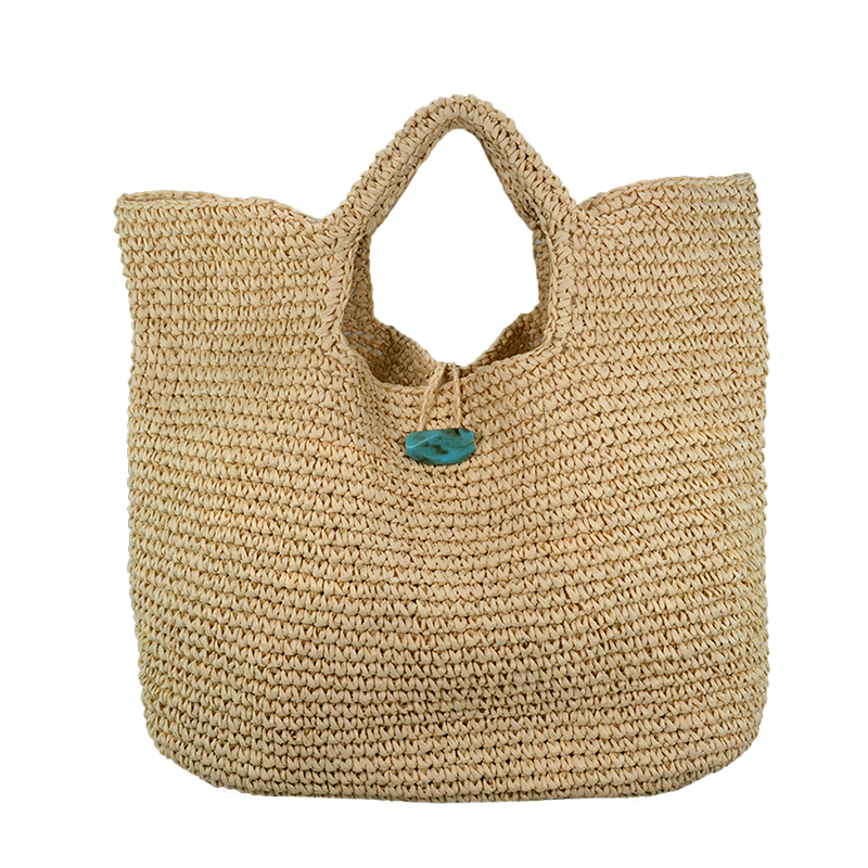 Hot Sale Spring and summer beach bags big flower design moroccan straw bag