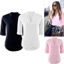 Designs casual office women blouse sample