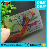Custom Printing Clear Transparent Plastic Business Blank PVC ID Cards Format Cheap
