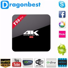 smart tv box android 6.0 T96 pro Amlogic S912 Octa core Dual WiFi Ram 2GB Rom 16GB Kodi tv box