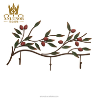 New Products Arts and Crafts Hook Cherry Metal Wall Art Relief Home Decor