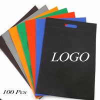 Custom print non woven bag with one color print MOQ 100Pcs eco shopping fabric bag wholesale