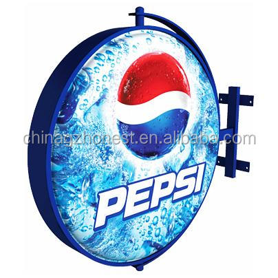 3D revolving outdoor round light signs