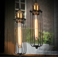 Bulb Included Vintage Pendant Light Industrial Edison Lamp Metal Style With Cage E27 Loft Coffee Bar Restaurant Kitchen Lights