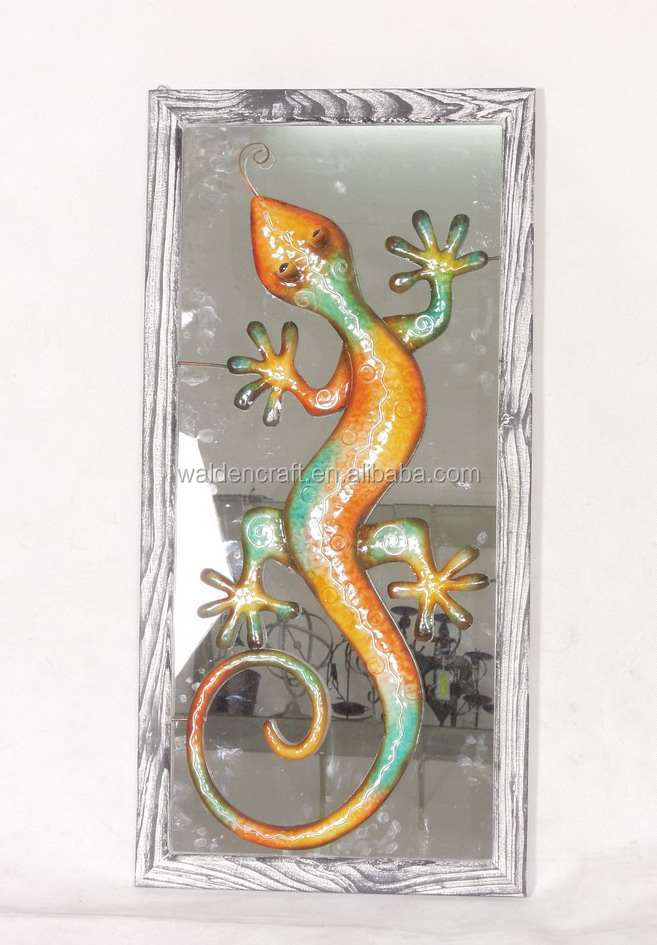 Metal Crafts Wrought Iron Garden Animals Lizard