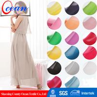 100% Polyester Material Plain Dyed Chiffon Dress Fabric
