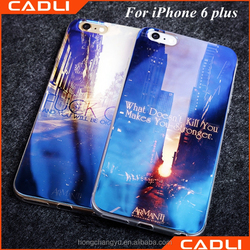Newest Fashion custom electroplating blu light plastic phone case for iphone 6 plus