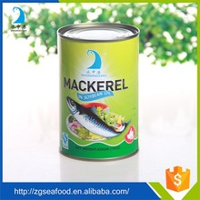 high quality canned mackerel in sunflower oil
