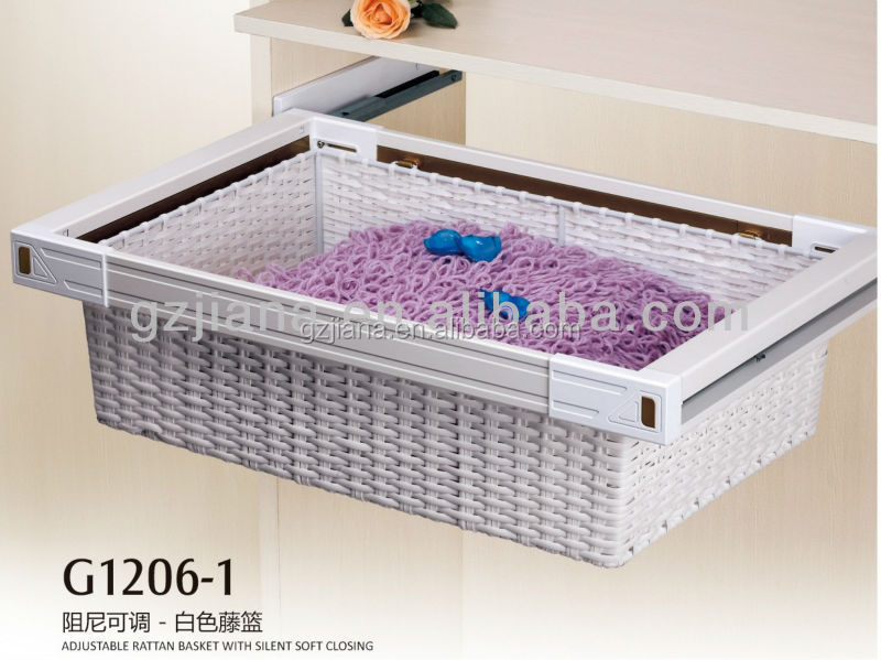 Furniture Fitting Sliding Drawer Rattan Storage Basket