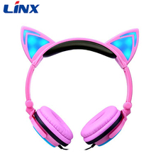 Best selling pink color stylish foldable headphones