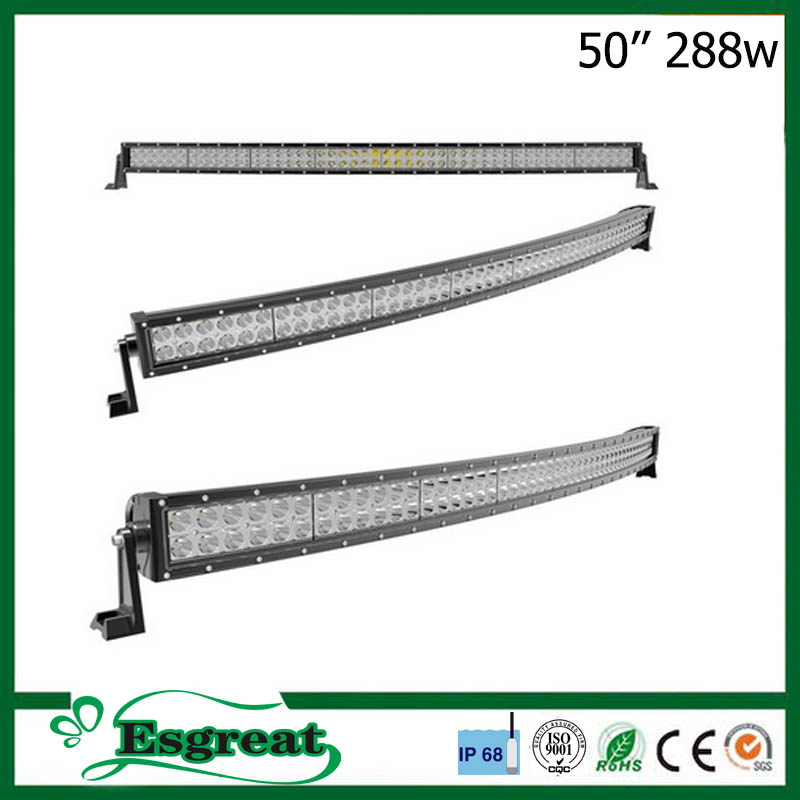 Waterproof IP68 50 inch 288W DIY Led Strip Light Bar Offroad For 4x4 Trucks Jeep Boat And SUV