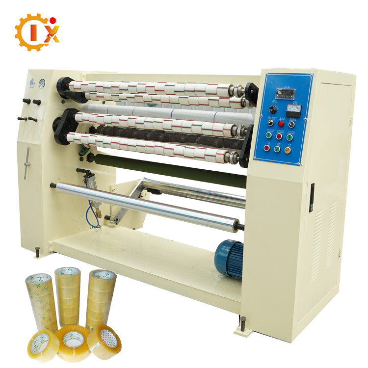 GL-210 factory price automatic jumbo roll bopp tape slitting rewinding machinery