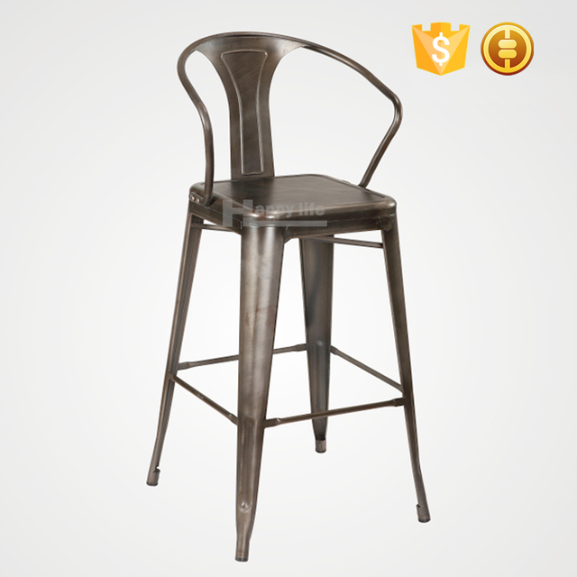 Cheap commercial Industrial metal bar stool high chair