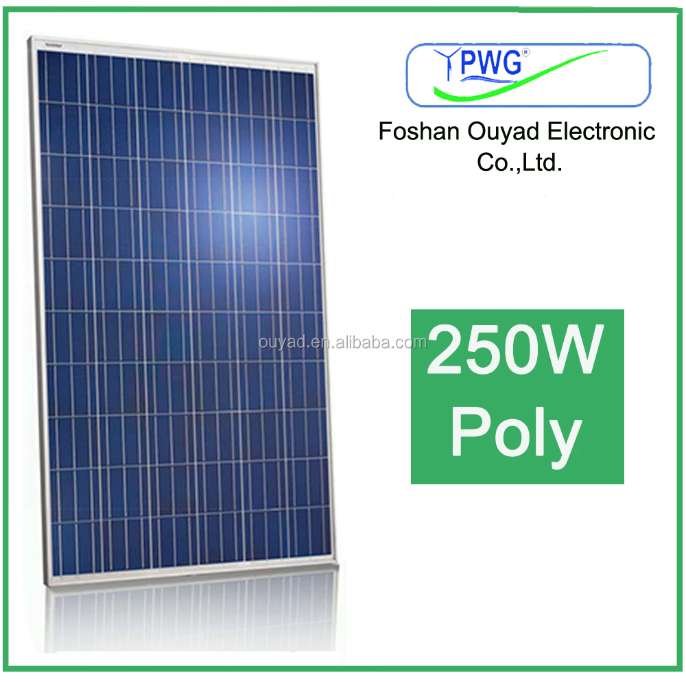 high cfficiency solar power panels 250 watt with price