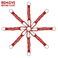 Remove Before Flight Keychain,climbing hook , Floral carabiner,woven letter keyring