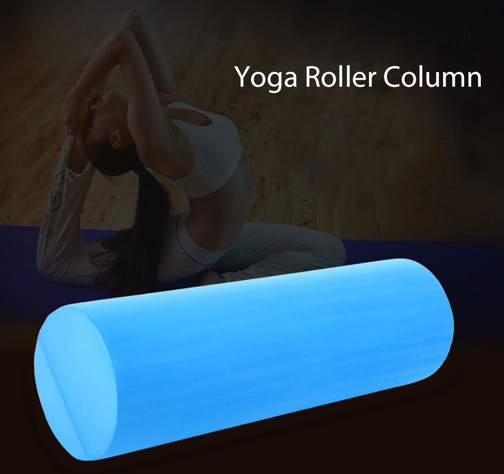 Free Shipping Blue 45*15CM PVC Yoga Foam Roller Yoga Pilates Fitness Massage Gym Exercise Trainin Yoga Blocks For Body Building