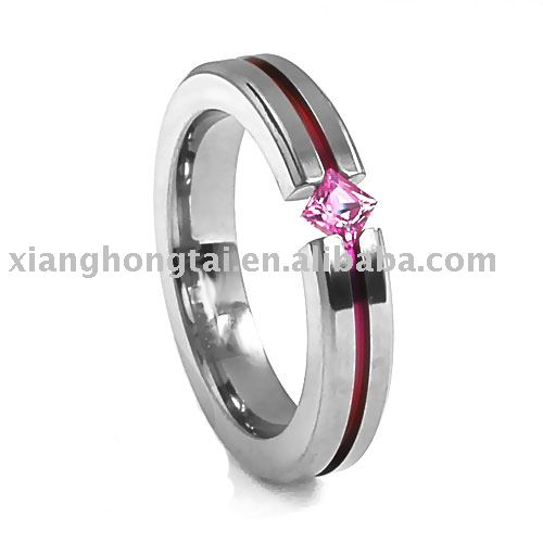 CZ stone Stainless Steel Ring